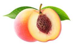 изолированные персики 2 стоковое изображение