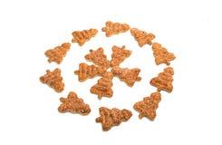 Изолированные печенья рождественской елки Стоковое Изображение