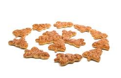 Изолированные печенья рождественской елки Стоковые Фотографии RF