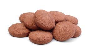 изолированные печенья шоколада Стоковые Изображения