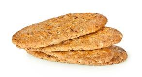 Изолированные печенья Oatmeal стоковые изображения rf
