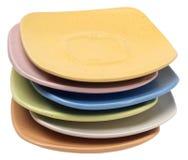 изолированные плиты белые Стоковая Фотография