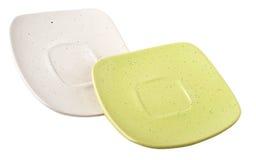изолированные плиты белые Стоковые Изображения