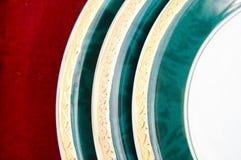 изолированные плиты красные Стоковая Фотография