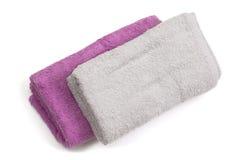 изолированные полотенца мыла части Стоковые Фотографии RF