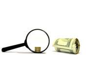 Изолированные предметы на белой предпосылке Деньги, доллары Стоковая Фотография RF