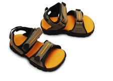 изолированные ребенком ботинки пар Стоковое Изображение RF