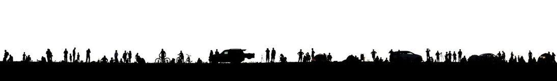 Изолированные силуэты людей стоковое фото rf