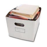 изолированные скоросшиватели коробки банкошетов Стоковая Фотография
