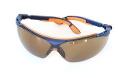 изолированные солнечные очки спорта белые Стоковая Фотография