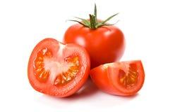 изолированные сочные томаты Стоковые Изображения