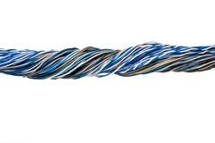изолированные старые проводы телефона Стоковое фото RF