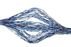 изолированные старые проводы телефона Стоковые Фотографии RF