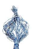 изолированные старые проводы телефона Стоковая Фотография RF