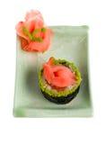изолированные суши плиты Стоковое Изображение