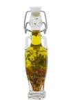 изолированные травы бутылки смазывают оливку стоковые изображения