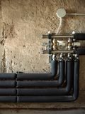 изолированные трубы Стоковые Изображения