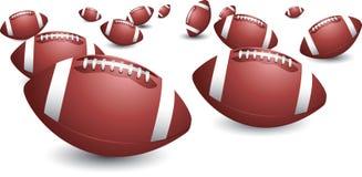 изолированные футболы Стоковое Изображение RF