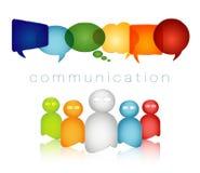 Изолированные цвета радуги пузыря речи Толпа говорит Текст связи Концепция сети Говорить группы людей Социальная сеть бесплатная иллюстрация