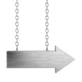 изолированные цепи стрелки metal белизна Стоковые Фото