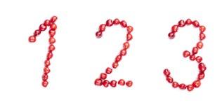 изолированные числа вишни Стоковое Изображение