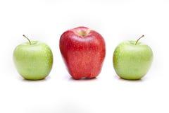 изолированные яблоки Стоковая Фотография RF