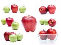 изолированные яблоки Стоковое фото RF