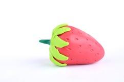 изолированные ягодой клубники пластилина Стоковые Фотографии RF