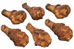 Изолированные drumsticks цыпленка Стоковое Фото