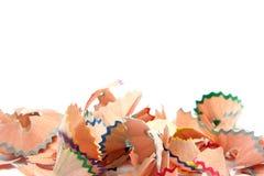 изолированные shavings стоковые фотографии rf