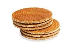 изолированные waffles белые Стоковая Фотография