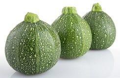 изолированные zucchinis Стоковые Изображения