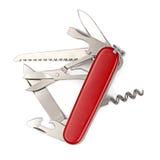 изолированный армией швейцарец ножа Стоковое Изображение