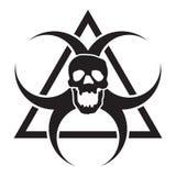 Изолированный био предупредительный знак черепа опасности Стоковое фото RF