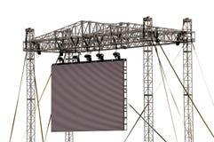 изолированный большой напольный экран Стоковые Фотографии RF