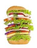 Изолированный большой сандвича очень стоковые изображения