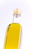 изолированный бутылочным стеклом квадрат оливки масла Стоковые Изображения