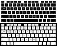 Изолированный вектор клавиатуры компьютера Черно-белая версия Стоковая Фотография RF