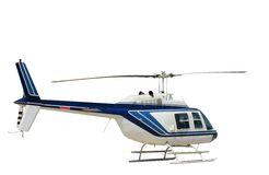 изолированный вертолет Стоковые Изображения