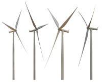 изолированный ветер турбины Стоковые Изображения RF