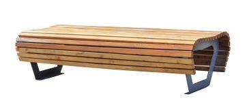Изолированный взгляд перспективы деревянной скамьи, Стоковые Фотографии RF