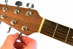 изолированный гитарой настраивать настройки Стоковые Фото