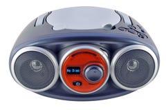 Изолированный голубой прибор радио Стоковое Изображение