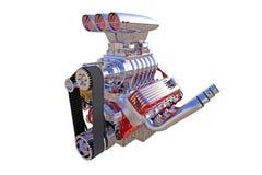 Изолированный двигатель горячей штанги 3d представляют Стоковые Фото