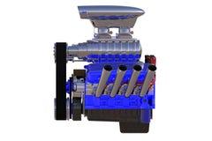 Изолированный двигатель горячей штанги 3d представляют Стоковые Фотографии RF