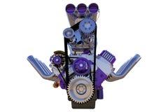 Изолированный двигатель горячей штанги 3d представляют Стоковые Изображения RF