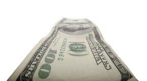 изолированный доллар 100 счета стоковое изображение rf