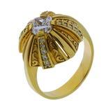 изолированный желтый цвет кольца белый Стоковые Фотографии RF