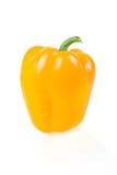 изолированный желтый цвет паприки зрелый белый Стоковое Фото