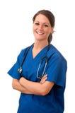 изолированный женщиной стетоскоп нюни Стоковые Изображения RF